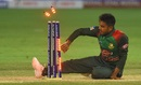 Mehidy Hasan Miraz breaks the stumps to effect a run out, Sri Lanka v Bangladesh, Asia Cup 2018, Dubai, September 15, 2018