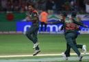 Rubel Hossain celebrates, Sri Lanka v Bangladesh, Asia Cup 2018, Dubai, September 15, 2018