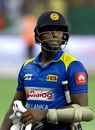 Angelo Mathews is disappointed at getting out, Sri Lanka v Bangladesh, Asia Cup 2018, Dubai, September 15, 2018