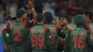 The Bangladesh team celebrate