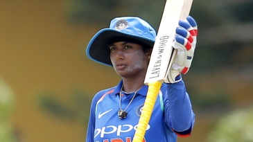 Mithali Raj acknowledges her century