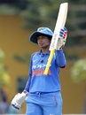 Mithali Raj acknowledges her century, Sri Lanka v India, 3rd ODI, Katunayake, September 16, 2018