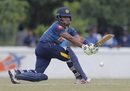 Chamari Atapattu stretches out for a sweep, Sri Lanka v India, 3rd ODI, Katunayake, September 16, 2018