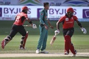 Mohammad Amir watches Anshy Rath and Nizakat Khan run between the wickets, Hong Kong v Pakistan, 2nd ODI, Asia Cup, September 16, 2018