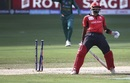 Nizakat Khan was run-out by a direct hit from Shadab Khan, Hong Kong v Pakistan, 2nd ODI, Asia Cup, September 16, 2018