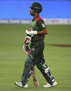 Tamim Iqbal comes out to bat with a fractured left hand, Sri Lanka v Bangladesh, Asia Cup 2018, Dubai, September 15, 2018