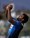 Thisara Perera holds onto a catch in the deep, Afghanistan v Sri Lanka, 3rd ODI, Group B, Asia Cup, September 17, 2018