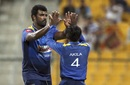 Thisara Perera celebrates a wicket, Afghanistan v Sri Lanka, 3rd ODI, Group B, Asia Cup, September 17, 2018