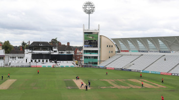 Trials for the ECB's new Hundred format took place at Trent Bridge