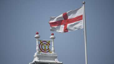 The England flag flies over Lord's