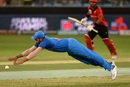 Rohit Sharma dives in an attempt to stop the ball, India v Hong Kong, Asia Cup 2018, Dubai, September 18, 2018