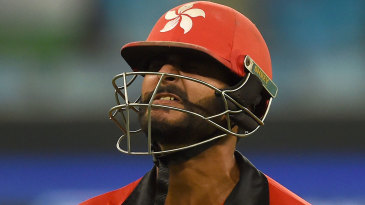 Anshy Rath grimaces after being dismissed