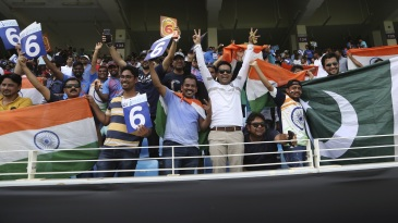 India and Pakistan fans revel before the first ball