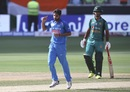Bhuvneshwar Kumar celebrates after Imam-ul-Haq's dismissal, India v Pakistan, Asia Cup 2018, Dubai, September 19, 2018