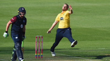 Olly Stone in his delivery stride