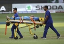 Hardik Pandya is stretchered off the field, India v Pakistan, Asia Cup 2018, Dubai, September 19, 2018