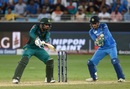 MS Dhoni reacts as Faheem Ashraf plays the cut, India v Pakistan, Asia Cup 2018, Dubai, September 19, 2018