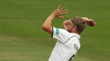 Olly Stone took two wickets on the day of his England call-up