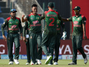 Abu Hider is congratulated after his early strikes, Afghanistan v Bangladesh, Group B, Asia Cup 2018, Abu Dhabi, September 20, 2018