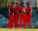 Adam Zampa celebrates a wicket with his teammates, New South Wales v South Australia, JLT One-Day Cup, Perth, September 20, 2018