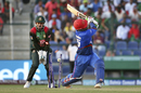 Samiullah Shenwari went for a big shot and missed the ball, Afghanistan v Bangladesh, Group B, Asia Cup 2018, Abu Dhabi, September 20, 2018