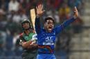 Rashid Khan belts out an appeal, Afghanistan v Bangladesh, Group B, Asia Cup 2018, Abu Dhabi, September 20, 2018