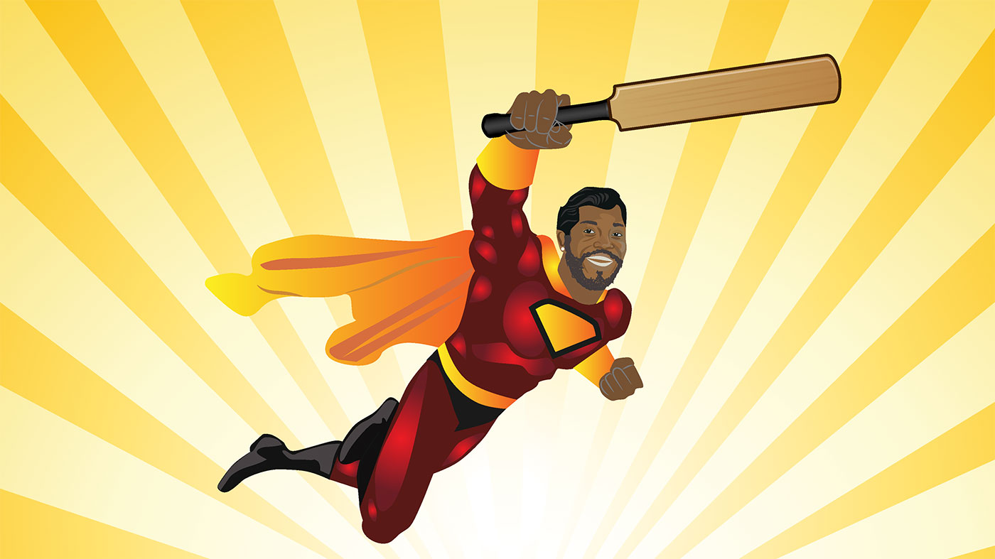 Flying Chris Gayle