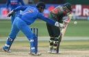 Mushfiqur Rahim and MS Dhoni both have eyes only for the ball, Bangladesh v India, Asia Cup, Dubai, September 21, 2018