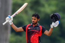 Priyank Panchal celebrates his century, Tamil Nadu v Gujarat, Elite, Group C, Vijay Hazare Trophy 2018, Chennai, September 20, 2018