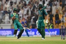 Hasan Ali celebrates with Shoaib Malik after Pakistan's win, Afghanistan v Pakistan, Asia Cup, Super Four, Abu Dhabi, 21 September, 2018