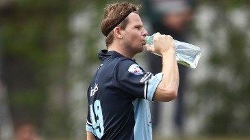 Steven Smith takes a breather