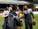 Gurinder Sandhu receives his debut Tasmania cap, Queensland v Tasmania, JLT One Day Cup, Townsville, September 22, 2018