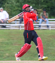 Navneet Dhaliwal skies a drive over cover, Belize v Canada, ICC World Twenty20 Americas Sub Regional Qualifier A, Morrisville, September 20, 2018