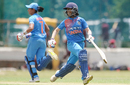 Jemimah Rodrigues and Harmanpreet Kaur run between the wickets, India v Sri Lanka, 3rd T20I, Colombo, September 22, 2018