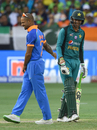 Shoaib Malik and Shikhar Dhawan share a laugh, India v Pakistan, Super Four, Asia Cup 2018, Dubai, September 23, 2018