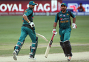 Shoaib Malik and Sarfraz Ahmed run between the wickets, India v Pakistan, Super Four, Asia Cup 2018, Dubai, September 23, 2018