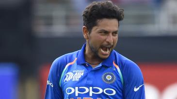 Kuldeep Yadav is stoked upon picking a wicket
