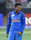 Kuldeep Yadav is stoked upon picking a wicket, India v Pakistan, Super Four, Asia Cup 2018, Dubai, September 23, 2018