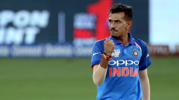Yuzvendra Chahal punches in the air