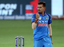 Yuzvendra Chahal punches in the air , India v Pakistan, Super Four, Asia Cup 2018, Dubai, September 23, 2018