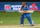 Shikhar Dhawan shapes to sweep, India v Pakistan, Super Fours, Asia Cup 2018, Dubai, September 23, 2018