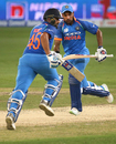Rohit Sharma and Shikhar Dhawan run between the wickets, India v Pakistan, Super Four, Asia Cup 2018, Dubai, September 23, 2018