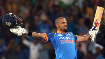 Shikhar Dhawan celebrated his century in style