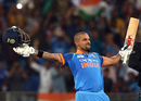 Shikhar Dhawan celebrated his century in style, India v Pakistan, Super Four, Asia Cup 2018, Dubai, September 23, 2018