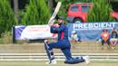 Jaskaran Malhotra slog sweeps for six over square leg, USA v Belize, ICC World Twenty20 Americas Sub Regional Qualifier A, Morrisville, September 21, 2018