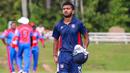 Monank Patel walks off after top-scoring with 108, USA v Belize, ICC World Twenty20 Americas Sub Regional Qualifier A, Morrisville, September 21, 2018
