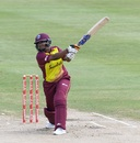 Natasha McLean swings hard, West Indies women v South Africa women, 1st T20I, Barbados, September 24, 2018