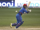 Mohammad Nabi cuts the ball square to third man, Afghanistan v India, Asia Cup 2018, Dubai, September 25, 2018
