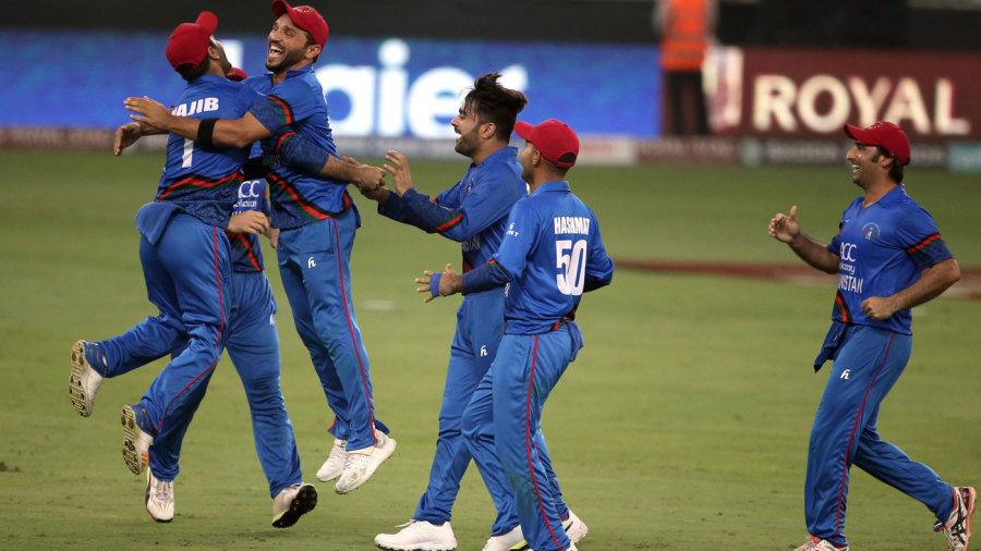 Afghanistan celebrate the moment after sealing a tie