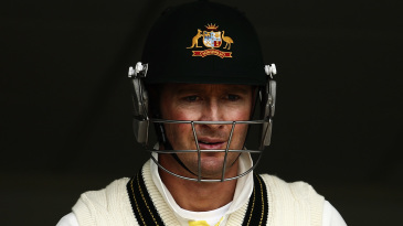 Michael Clarke waits for his turn to bat